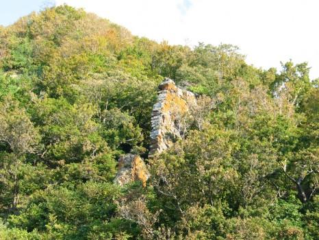 弁慶の薪積岩
