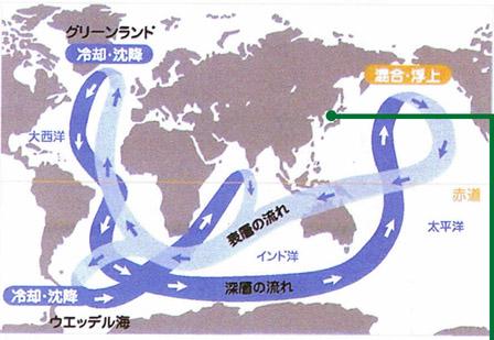 日本周辺の海水の大循環