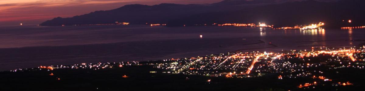 岩内町の夜景